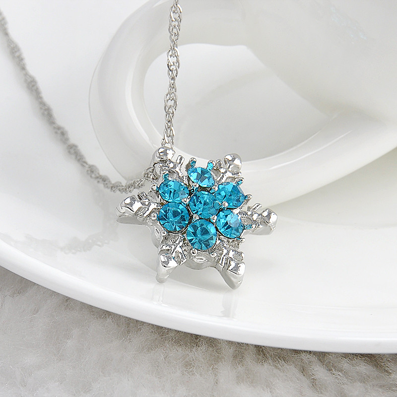 Crystal snowflake necklacespendants star fashion accessories crystal snowflake necklacespendants aloadofball Images
